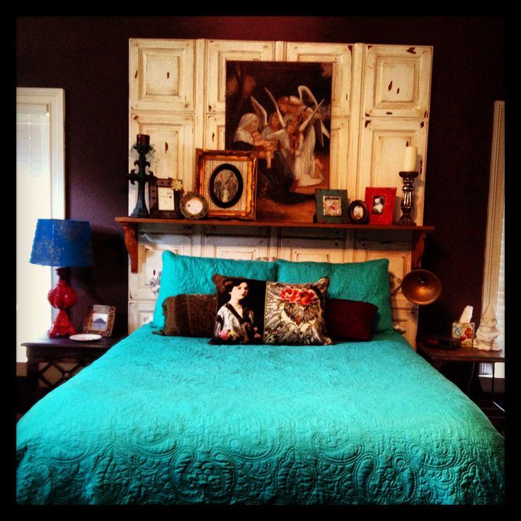 DIY headboard... love this room!!!