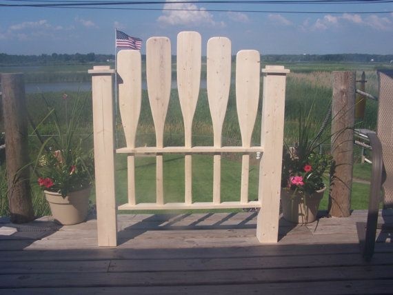 Paddle Headboard Nautical Headboard Cottage by PaddlesOarsAndMore, $125.00