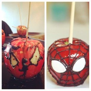 This Spiderman caramel apple is in trouble. #pinterestfail
