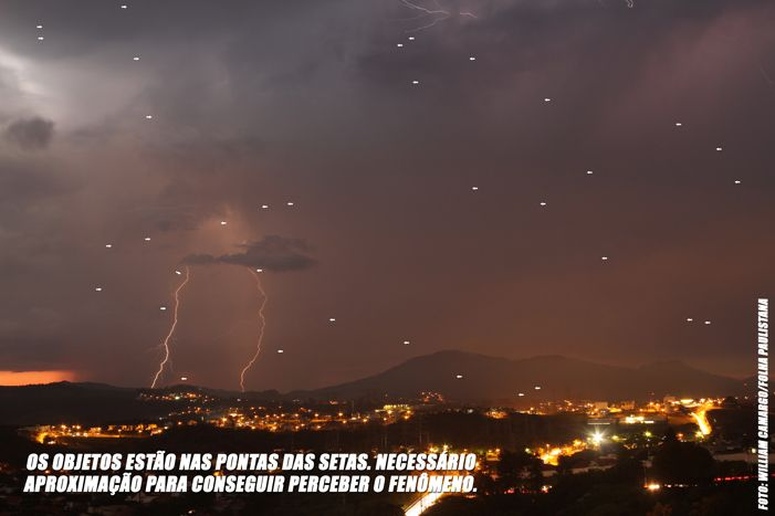Objetos Voadores não identificados entre as cidades de Santana