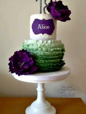Ombre ruffles. Love the colors!