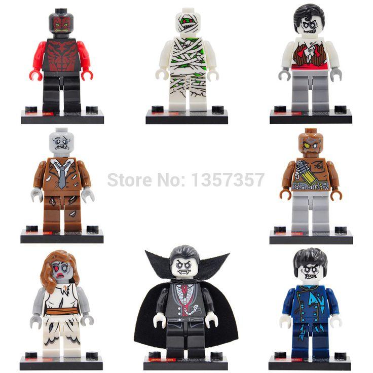 JK 0137-0144 Super Hero Zombie World Figure The Walking Dead 8pcs/lot Building Blocks Sets Model Bricks Toys for Children #Affiliate