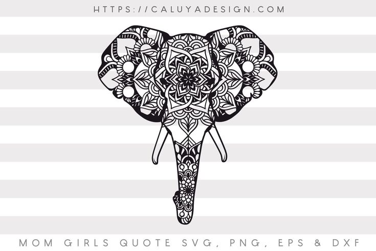 Download Free Elephant Mandala SVG, PNG, EPS & DXF by | Cricut ...
