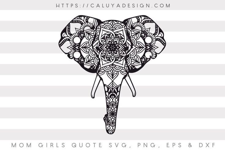 Download Free Elephant Mandala SVG, PNG, EPS & DXF by | Cricut ...