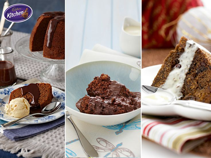 Which of these enticing #puds would you like to try?  #Chocolate Honey, Chocolate Walnut #Brownie or Choc Fig & Raisin? To view the #CADBURY product featured in this recipe visit https://www.cadburykitchen.com.au/products/view/bournville-cocoa/ #Dessert #Baking
