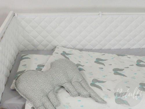 Pikowany ochraniacz do łóżeczka, biały ochraniacz  Tekstylia dla dzieci i niemowląt ➡️ www.betulli.pl