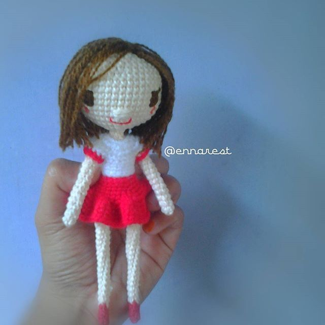 #amigurumi #bonekarajut #crochet #girl #redandwhite #red #white #handmade