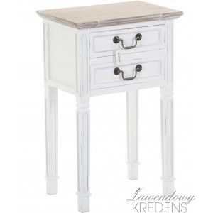 Białe stoliki nocne w prowansalskim stylu marki Aluro. Więcej zdjęć i informacji na http://lawendowykredens.pl/pl/116-meble-aluro