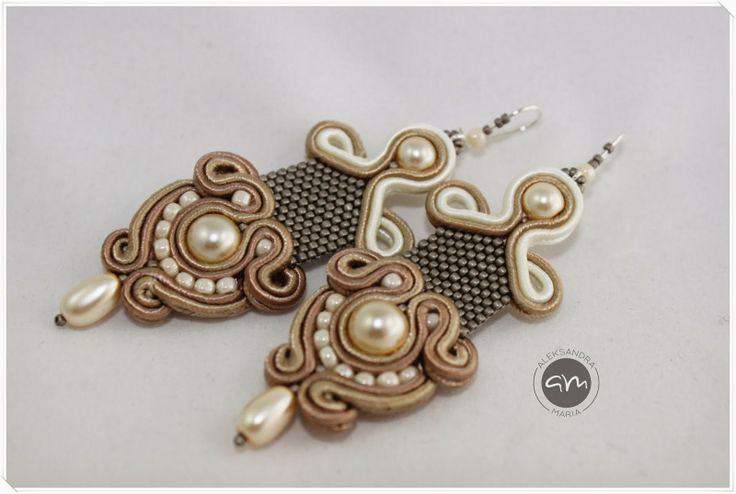 AleksandraMaria - art to wear love the combo of soutache & peyote stitch