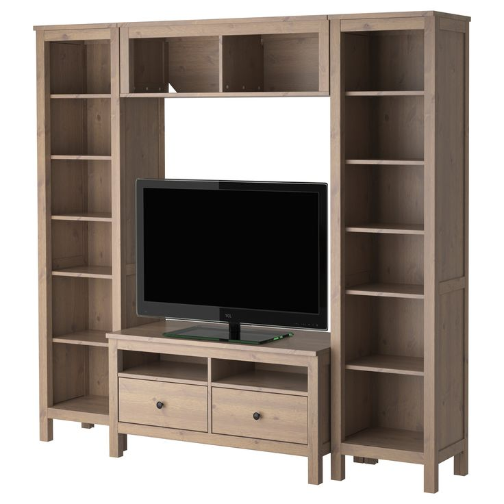 44 best images about furniture media center on pinterest for Media center with bookshelves
