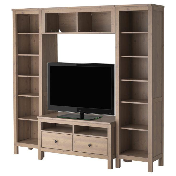 hemnes tv storage combination ikea project list pinterest. Black Bedroom Furniture Sets. Home Design Ideas