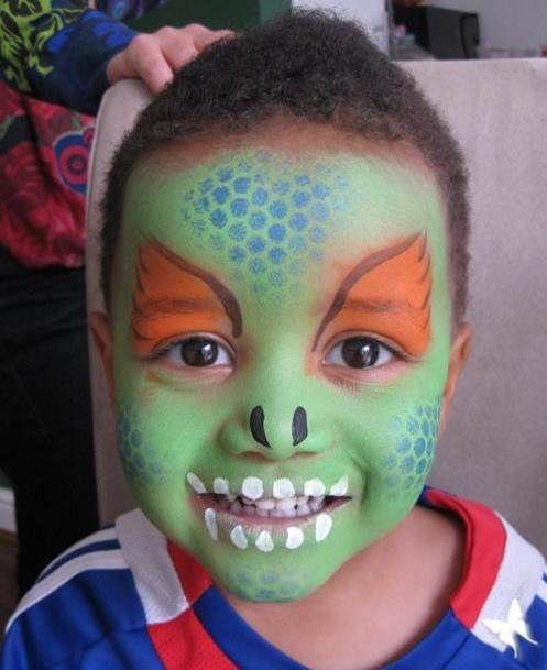 Dinosaur facepaint