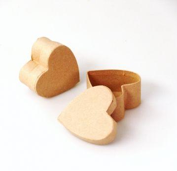 Papírmasé szív doboz - 5 cm