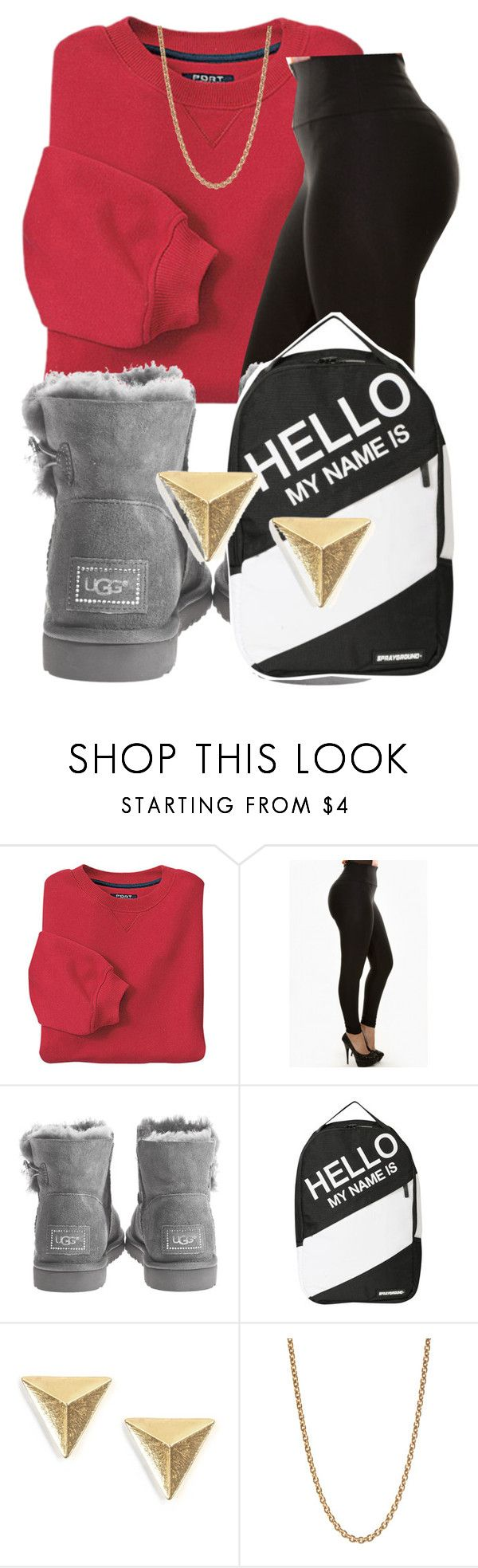 """""""•School•"""" by naiyax ❤ liked on Polyvore featuring INC International Concepts, UGG Australia, Sprayground and Givenchy"""