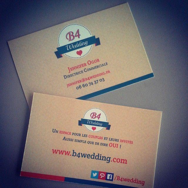 Ayé, on a reçu nos cartes de visite ! Qu'en pensez-vous ?  Mise en ligne du service dans moins d'un mois !  #b4wedding #wedding #mariage