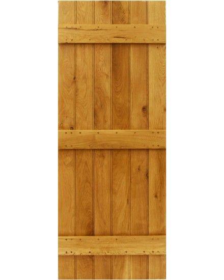Ledge With Optional Braces Solid Oak Door - Cottage Door