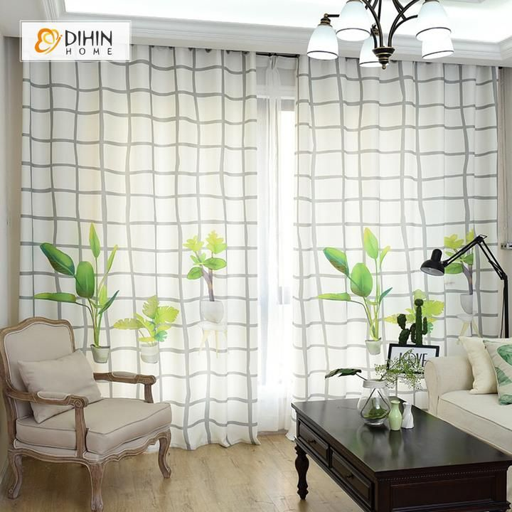 Dihin Home 3d Printed Green Bonsai Blackout Curtains Window Curtains Grommet Curtain For Living Room 39x102 Inch 2 Panels Included With Images Curtains Living Room Grommet Curtains Cool Curtains #printed #curtains #living #room