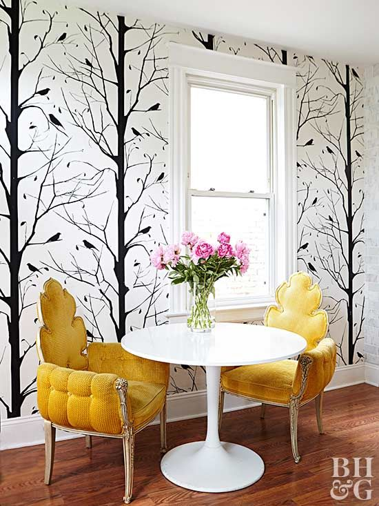Sure, a room can look stylish and elegant without an accent wall. But once you add a concentrated splash of color and pattern, you'll take the design to a bold new level.
