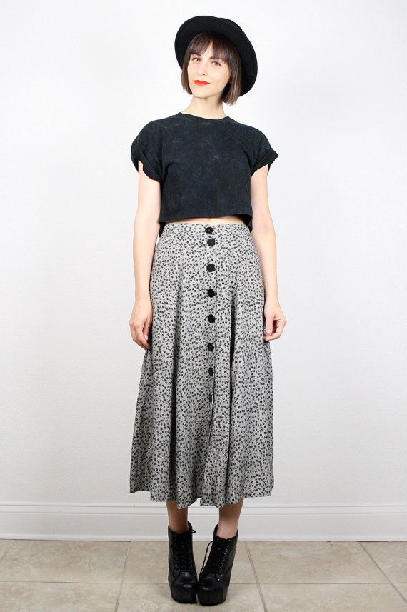 Vintage 90s Skirt Black... MAKES ME WISH I WOULD'VE SAVED ALL MY CLOTHES WHEN I WAS YOUNGER -LOL