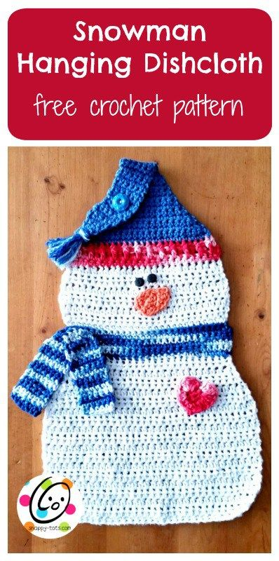 Free Pattern: Snowman Hanging Dishcloth ~ SnApPy ToTs