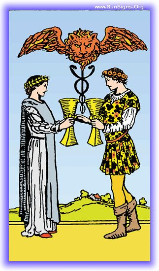 Two of Cups - Minor Arcana | SunSigns.Org