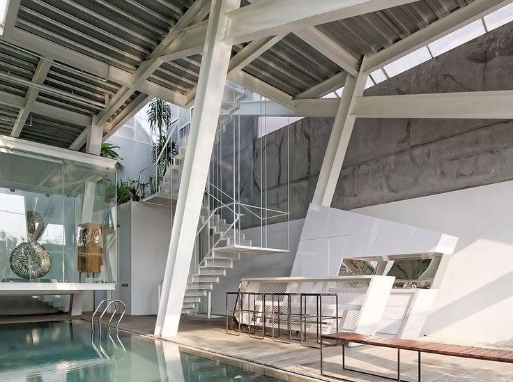Slanted House by Budi Pradono Architects