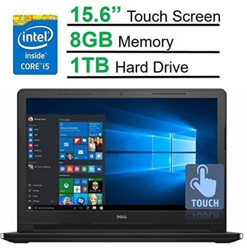 "Dell Inspiron 15.6"" Touchscreen HD I3558-5501BLK Laptop (2017 Newest Model) Intel Core i5-5200U Processor 8GB Memory 1TB HDD HDMI Bluetooth DVD-RW WiFi HD Webcam Windows 10 -MaxxAudio"