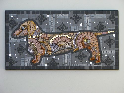 Dachshund mosaic - love this! I want to do this!