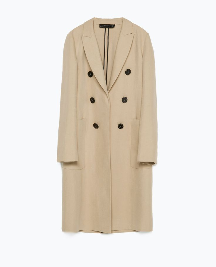 Image 8 of MASCULINE DOUBLE BREASTED COAT from Zara