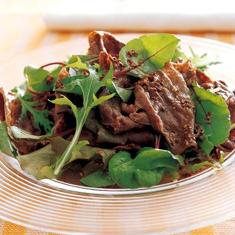 牛肉のしゃぶしゃぶサラダ | 小田真規子さんのレンジ蒸しの料理レシピ | プロの簡単料理レシピはレタスクラブネット