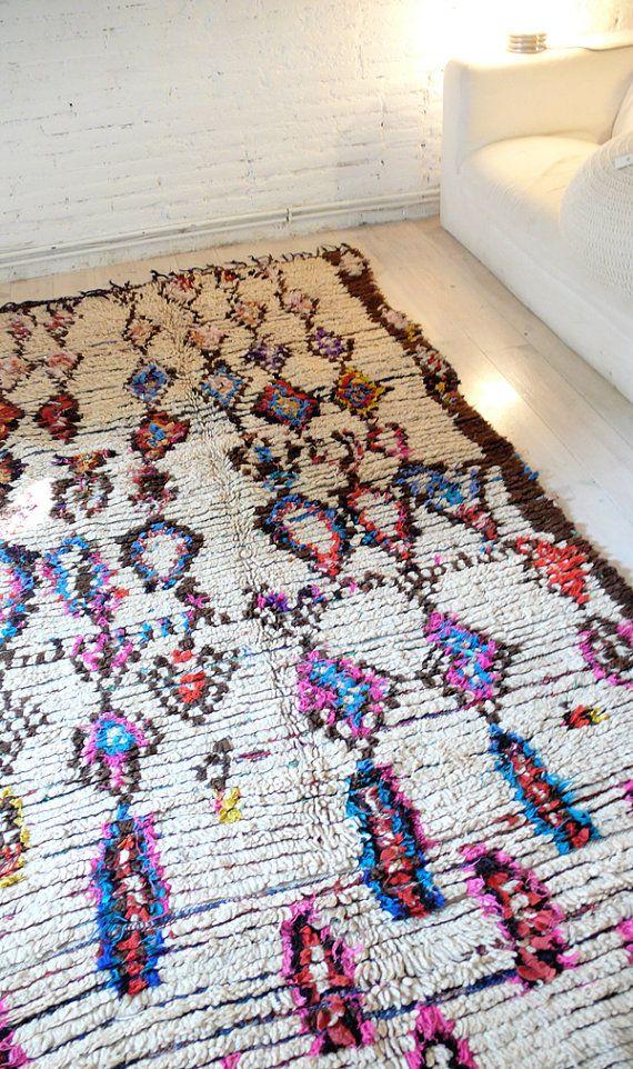 Alfombra de lana marroquí vintage  Diamantes de por lacasadecoto, €475.00