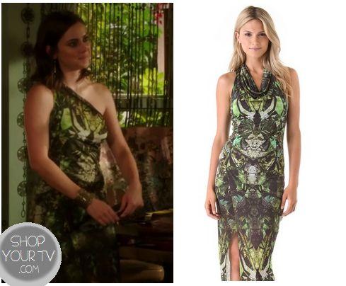 Shop Your Tv: 90210: Season 5 Episode 2 Silver's Green Print Dress