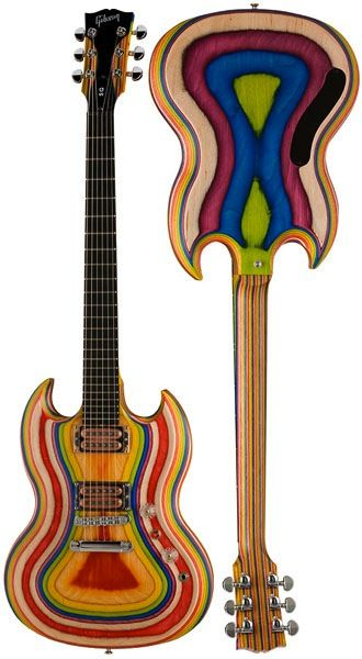Gibson SG Zoot Suit. Each color is a different layer of wood.