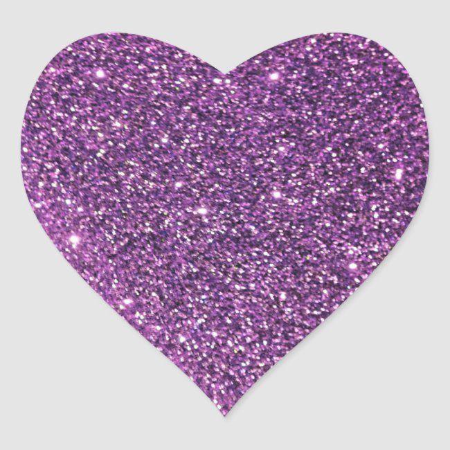 Purple Glitter Heart Stickers Zazzle Com Glitter Stickers Purple Sparkle Glitter Hearts