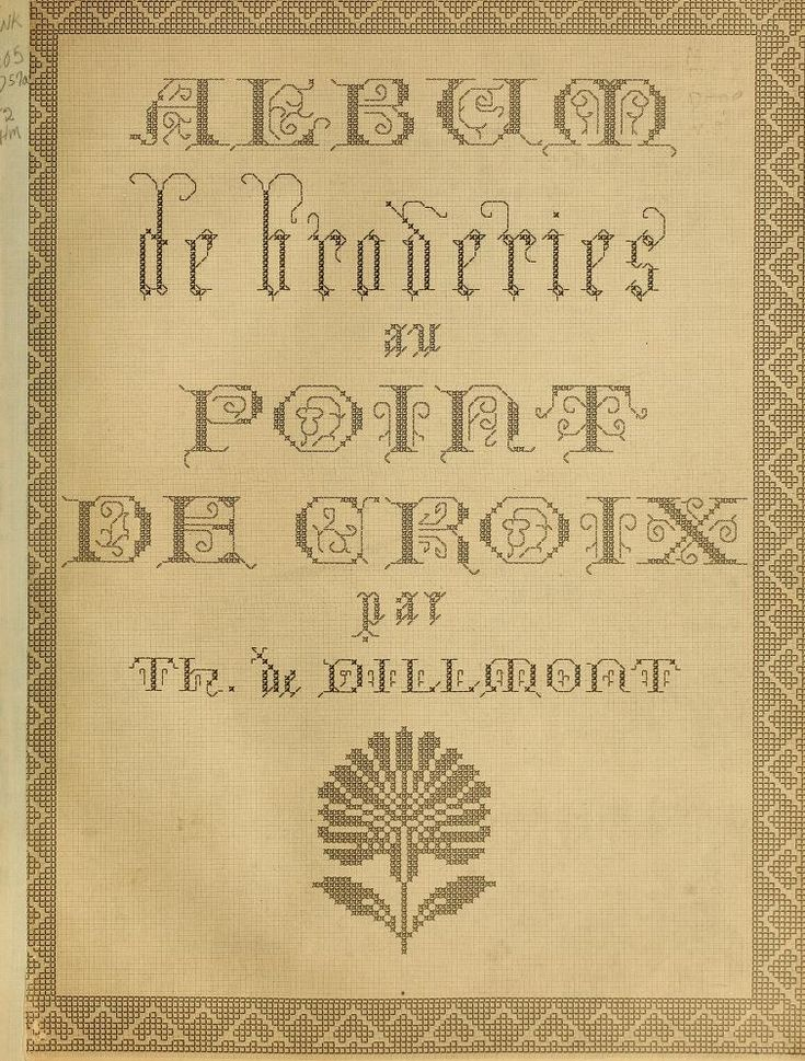 Album de Broderies au Point de Croix