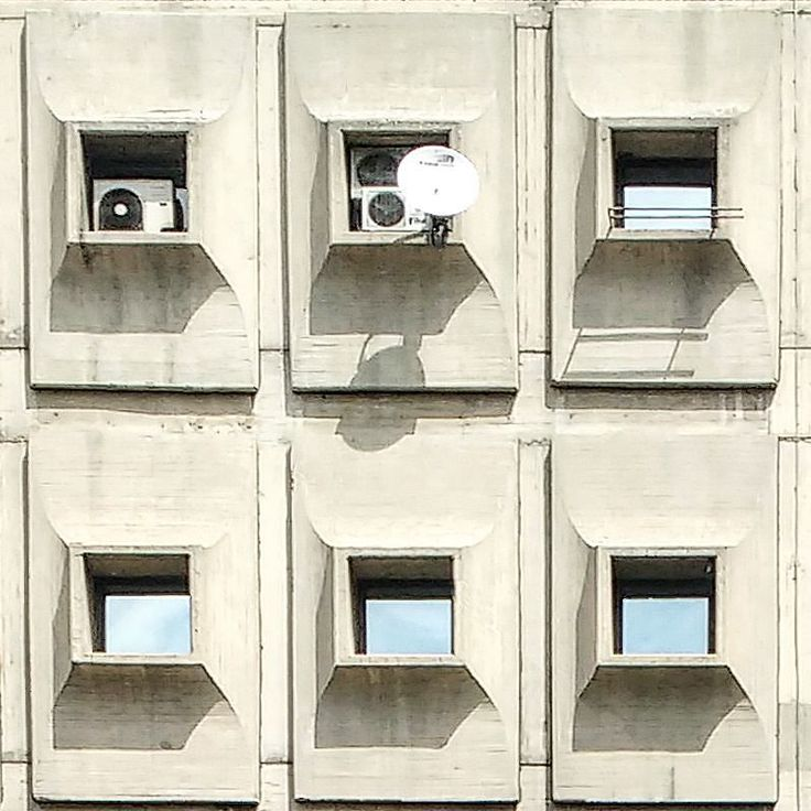 #prefab #brutalist #facade and #air #conditioning #units in #skopje [[[ #facade #project ]]] {{{ #macedonia #architecture }}}