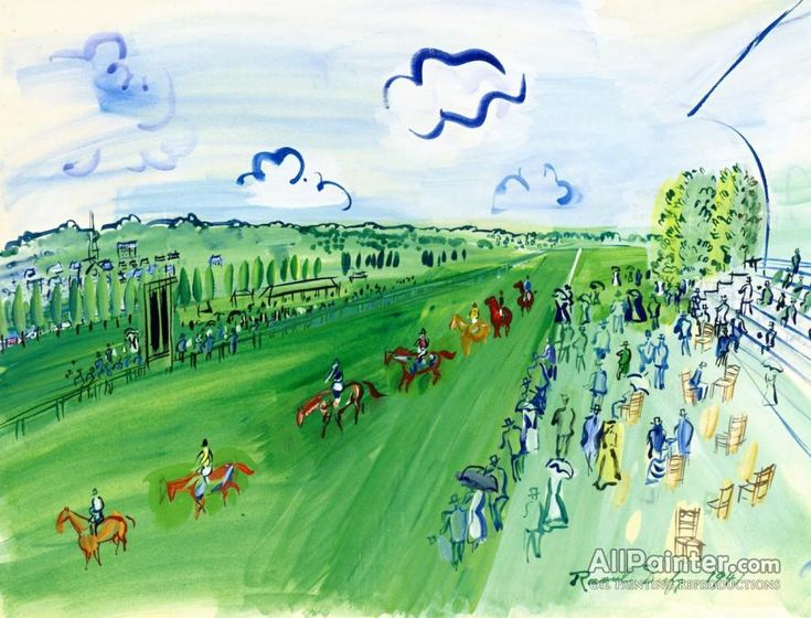 Raoul Dufy,The Parade Of Starters At Deauville oil painting reproductions for sale