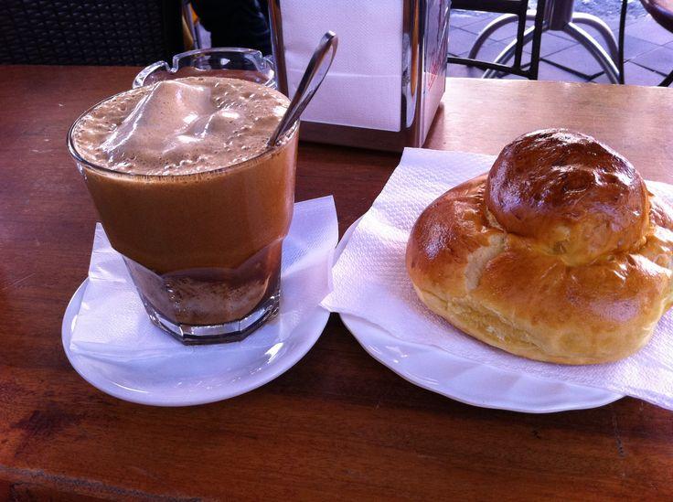 Brioche e granita al caffè
