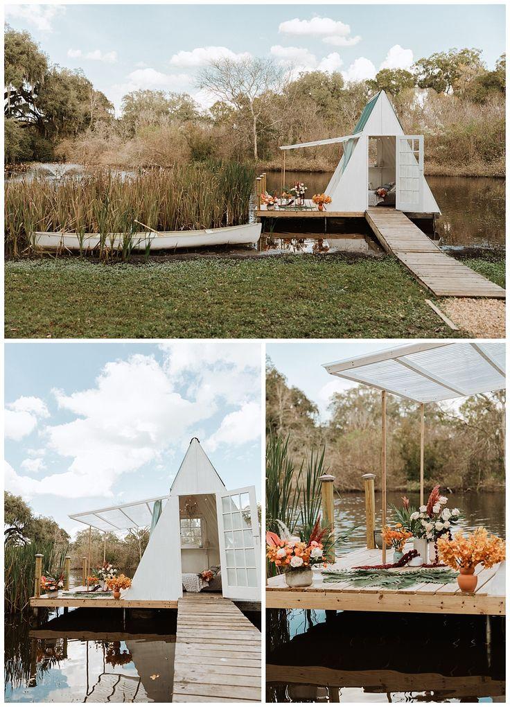 Boho Lakeside Elopement At Enchanted Oaks Farm In Ocala Florida Intimate Wedding Venues Florida Wedding Venues Southern Wedding Inspiration