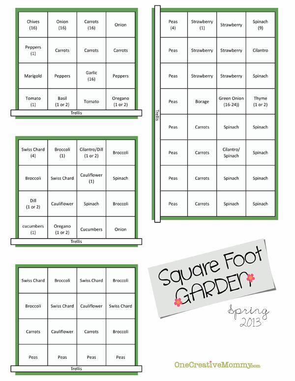 Spring-Square-Foot-Garden-Plan1.jpg 600×776 pixels