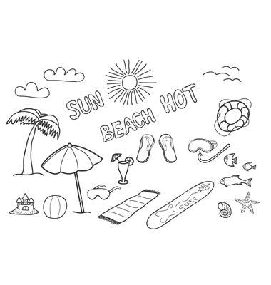 Beach doodles vector 307268 - by Laralova on VectorStock�