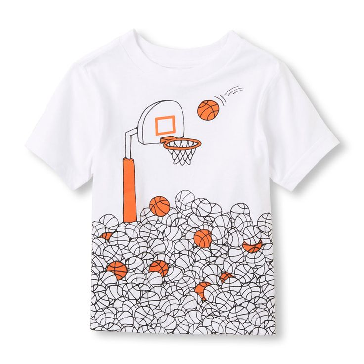 Toddler Boys Basketball Shot Graphic Tee