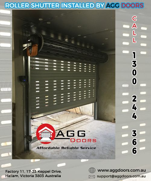 Installation of a perforated Roller Shutter, useful on underground car parks to allow ventilation from car fumes. For enquiries, give us a call on 1300 244 366 or visit www.aggdoors.com.au  #rollershutter #rollerdoors #garagedoors #industrialdoors #garagedoorsmelbourne #aggdoors