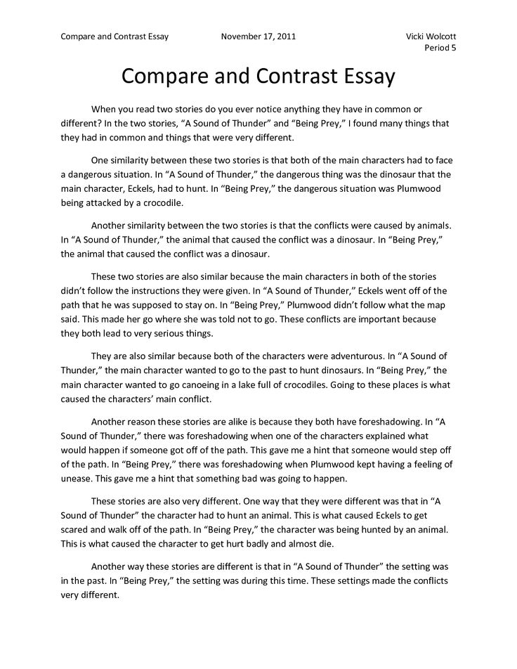 free examples of compare and contrast essays compare and contrast essay samples for college and high school - High School Essay Examples Free