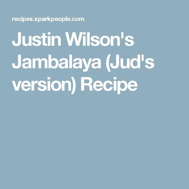 Justin Wilson's Jambalaya (Jud's version) Recipe