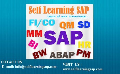 LEARN SAP COURSES and Combo Course are available in Self Learning Center Course Details : http://www.selflearningsap.com