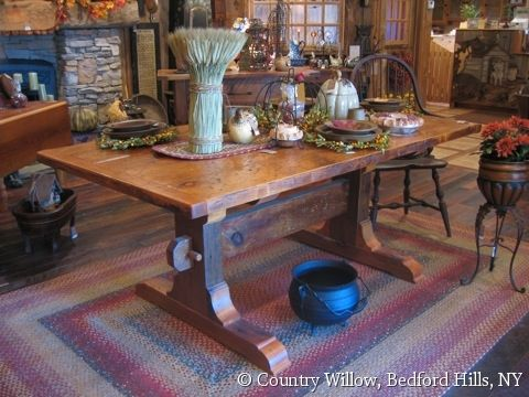 Rustic Country Dining Table Country Willow Furniture Dining Rooms Pinterest Furniture