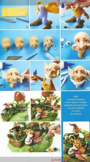 как слепить эльфа(гнома)-standing fondant elf(gnome) how to - Мастер-классы по украшению тортов Cake Decorating Tutorials (How To's) Tortas Paso a Paso by christine