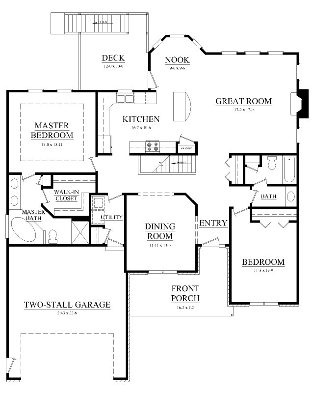 Big Kitchen, Breakfast Nook Floor Plan