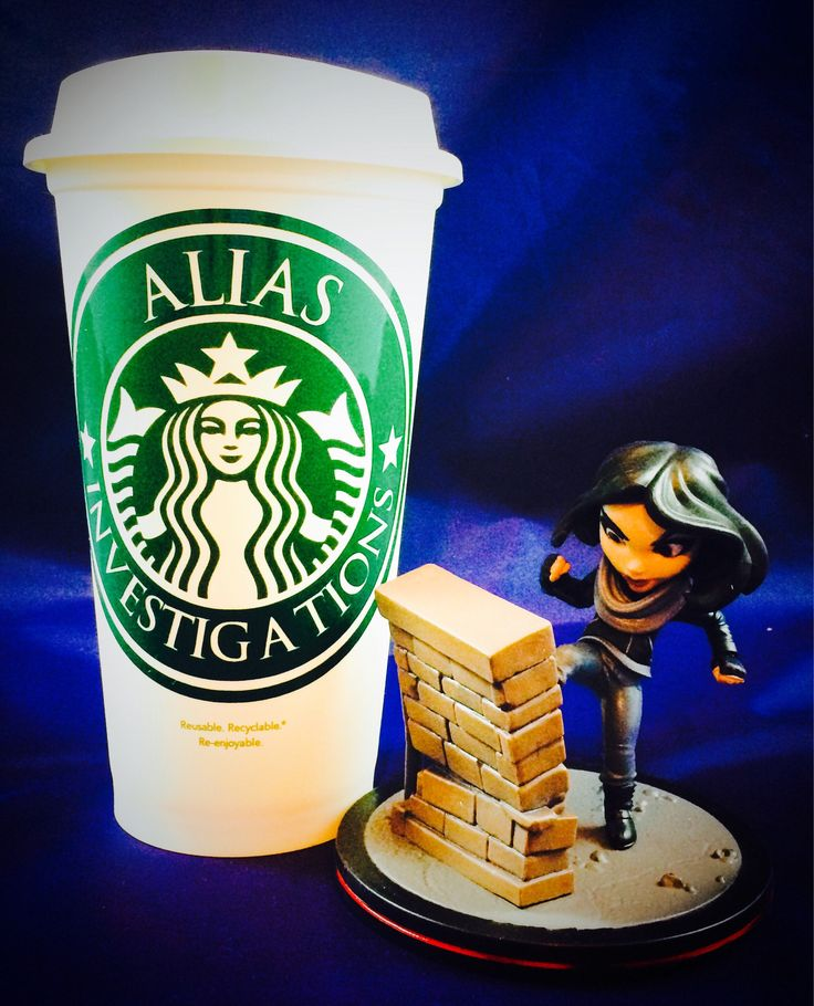 "Marvel's Jessica Jones inspired ""Alias Investigations"" Starbucks Travel Cup https://www.etsy.com/listing/526331274/marvels-jessica-jones-inspired-alias"